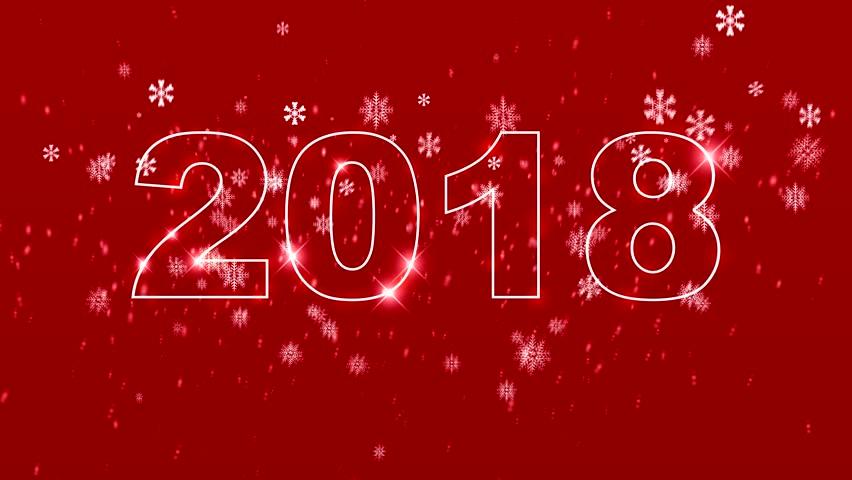 2018 New Year animation. 4k  | Shutterstock HD Video #34128820