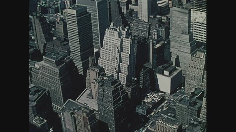NEW YORK, 1971, View of New York City from the top of the Empire State Building