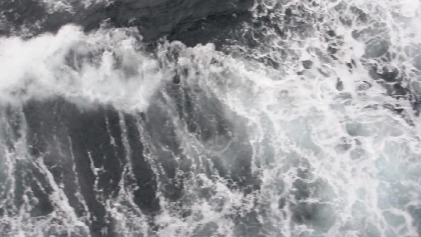 Ocean waves (top view). Antarctica | Shutterstock HD Video #3419600