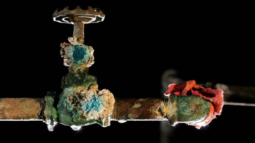 Leaky Old Rusty Pipe Stock Footage Video 3424784 | Shutterstock