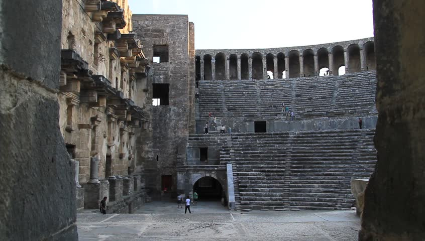 Inside Theatyer In Aspendos Turkey