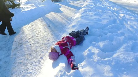 66265fa0b232 Winter Child Snow Stock Video Footage - 4K and HD Video Clips ...