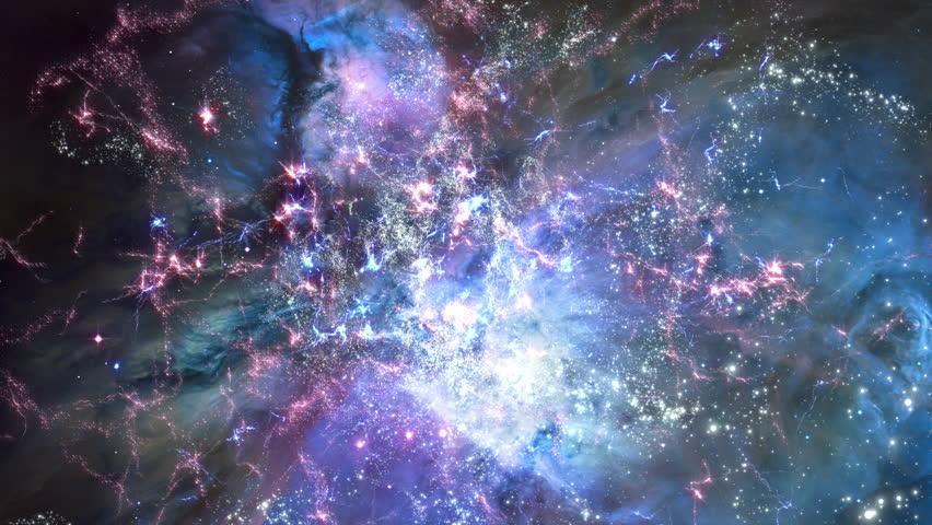 Space 2098: Traveling through star fields in deep space (Loop).   Shutterstock HD Video #34394920