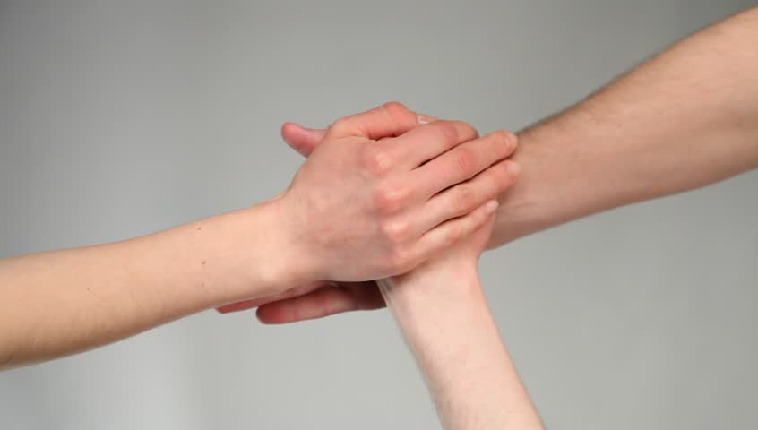 Many hands getting together - upper view point | Shutterstock HD Video #3444200