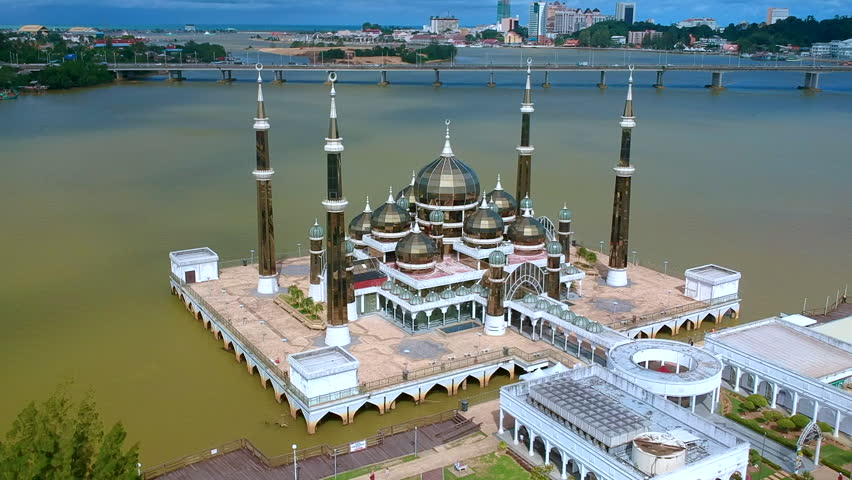 Drone view into beautiful mosque and landscape areas | Shutterstock HD Video #34469860