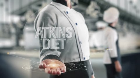 Chef holding in hand Atkins Diet