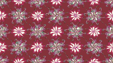 Pink vintage moving pattern