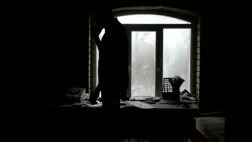 Writer looking for inspiration in dark room | Shutterstock HD Video #34571770