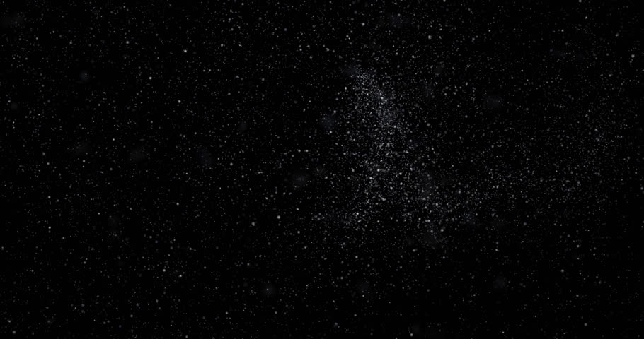 Snowfall on a black background