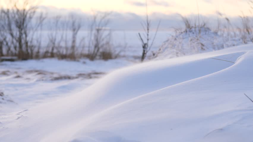 Driven By Winter Wind >> Small Snow Particles Fly Over Stock Footage Video 100 Royalty