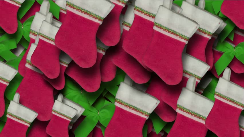 chrismas socks & rotate snowflake background.
