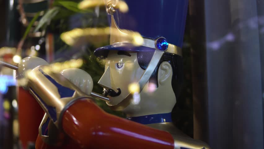 A toy soldier playing the trumpet in celebration of the year end holidays