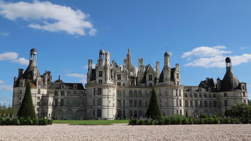 Château Chambord, Front Façade, Loire Valley, France.