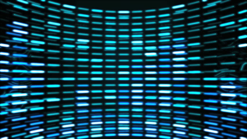 Cyan Graphic equalizer