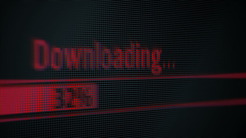 Close Up Shot (Pixel Screen) of Download Process Animation. | Shutterstock HD Video #34818790