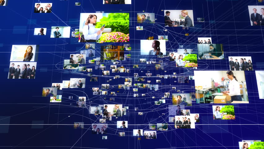 Pictures of business persons floating in cyberspace. | Shutterstock HD Video #34845730
