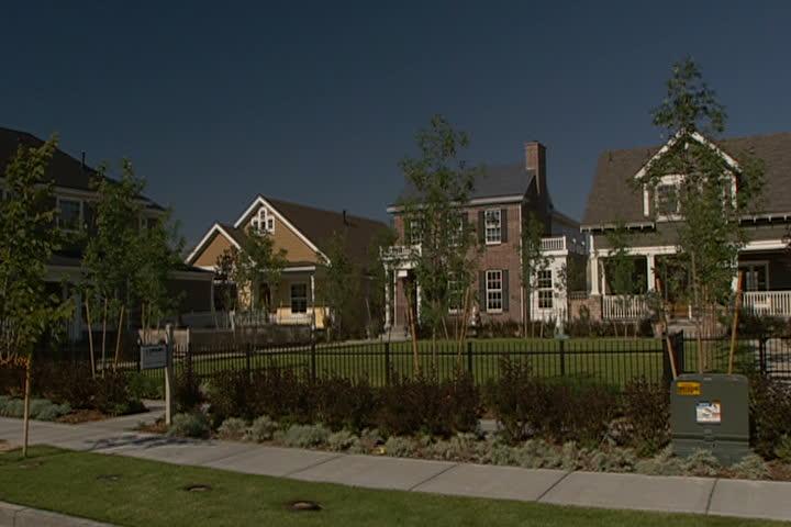A slow dolly of an urban neighborhood. | Shutterstock HD Video #348490