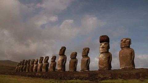 Moais of Ahu Tongariki, Rapa Nui (Easter Island)