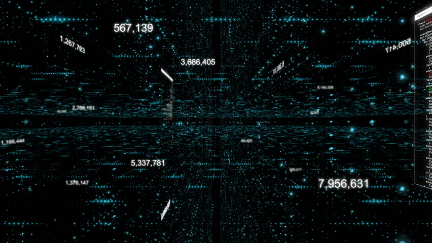 Abstract dark background flying pass through digital particle element for cyber digital technology concept with grain processed | Shutterstock HD Video #34866520