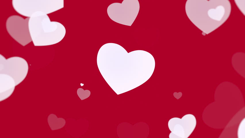 Valentine's day shiny background. Animation romantic heart and falling abstract particles. Happy holidays greeting. Luxury, elegant dynamic style template in 4k footage. Video format 3840x2160 | Shutterstock HD Video #34867030