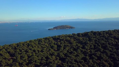 view of prince island in istanbul Turkey on a sunny day