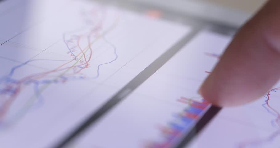 Stock market on tablet  | Shutterstock HD Video #34946539