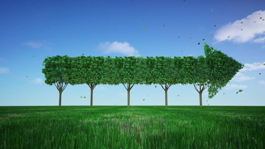 Green tree changed arrow. growth stock market. 1. | Shutterstock HD Video #34948585