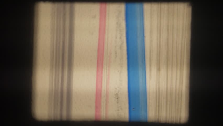 Old movie. 8mm. Painted with colored markers. | Shutterstock HD Video #35023198