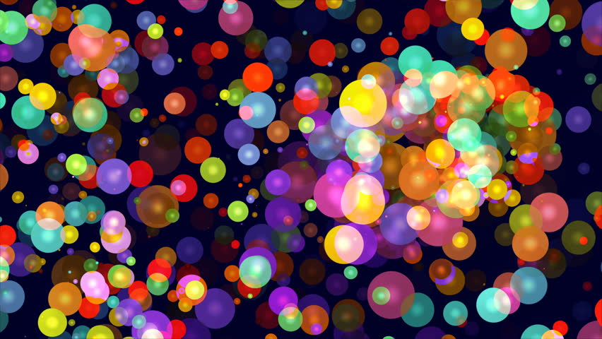 Abstract animated color background with moving luminous balls on a dark background | Shutterstock HD Video #35058010