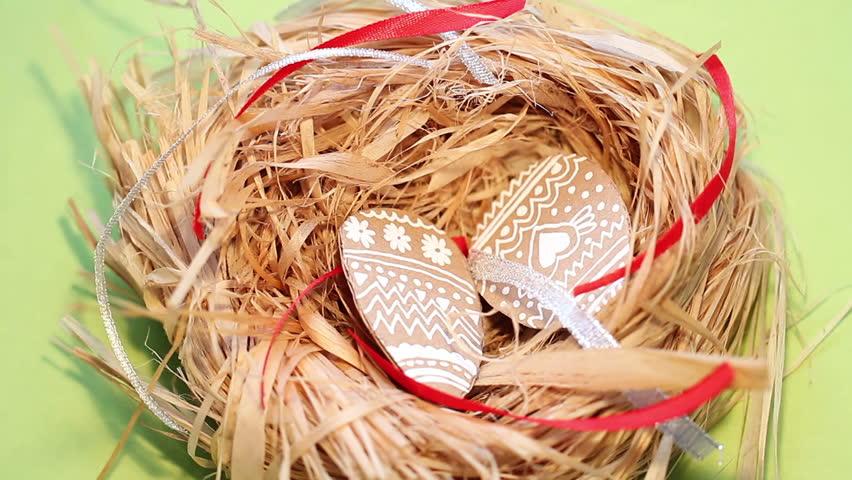 Easter eggs made of cardboard
