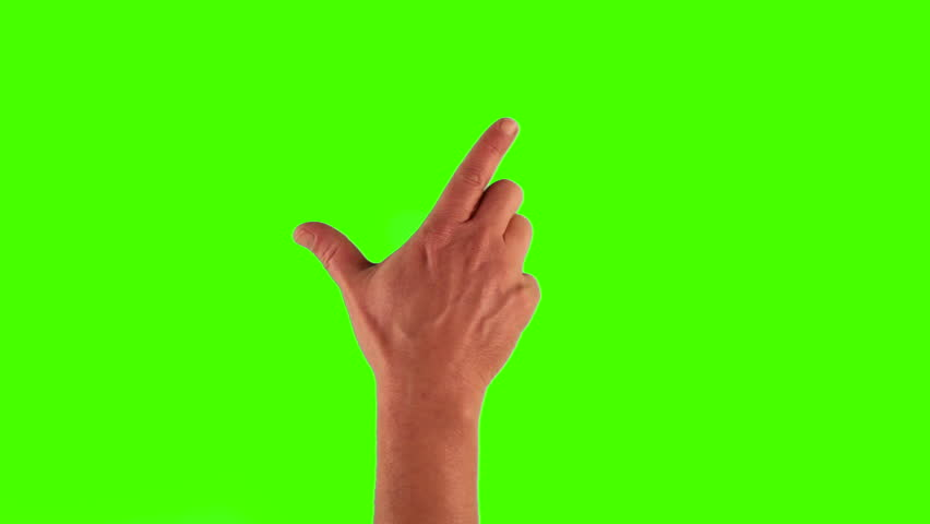 modern touch screen gestures in 1080p, 1920x1080 showing the uses of a tablet pc or ipad on a green screen. different gestures included. #3570500