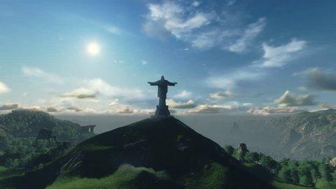 Christ the Redeemer Time Lapse Sunset, Rio de Janeiro