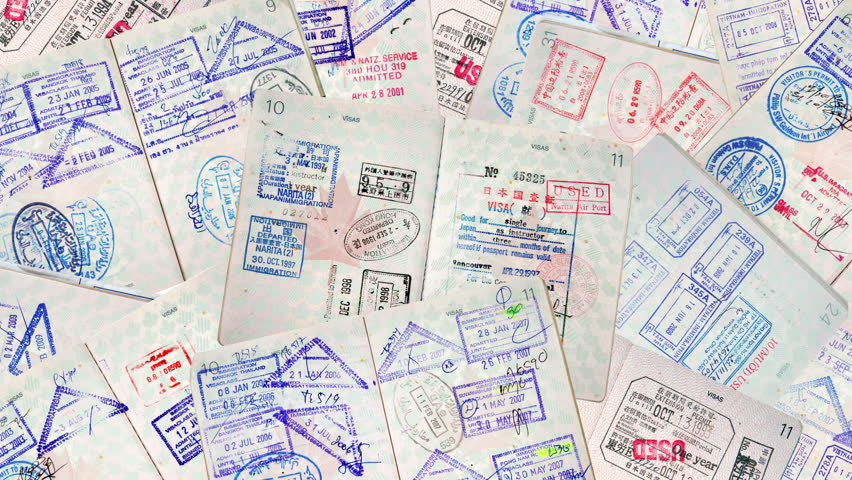 Stock video clip of passport international travel stamps shutterstock thecheapjerseys Image collections