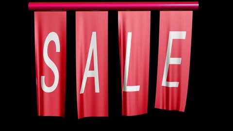 Sale Banners Unfurl Straight-on version.
