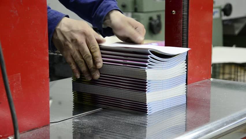 automatic machine magazine newspaper, offset and web printed products, magazine,