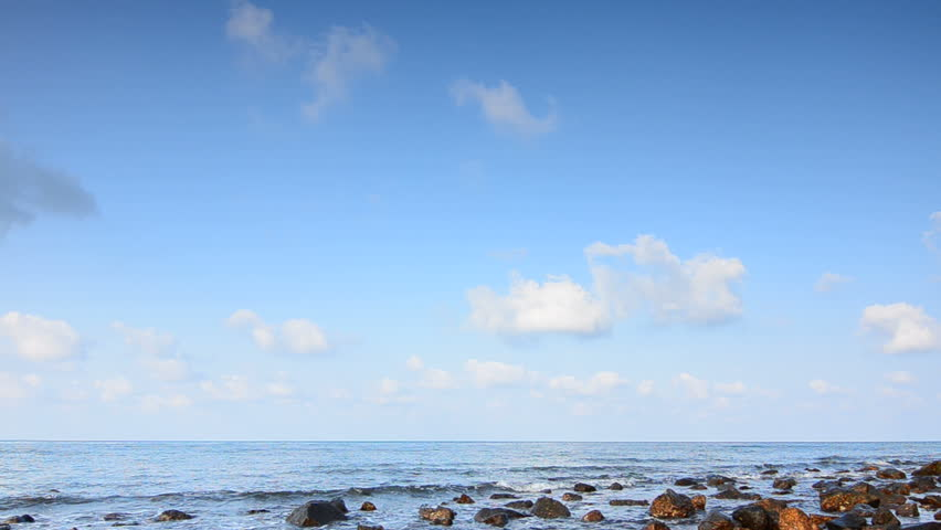 Beach Waves and Rocks