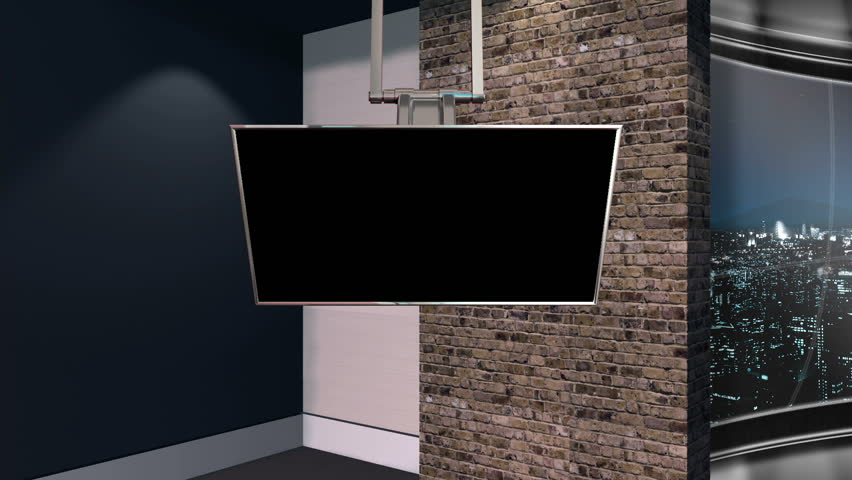 This is a virtual studio or virtual set background which can be used in green screen / Chroma key video production to place your talent / presenter into a newsroom type environment. | Shutterstock HD Video #3629759