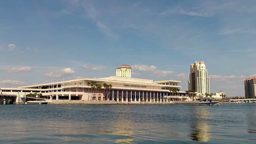 Tampa Convention Center in Florida time lapse