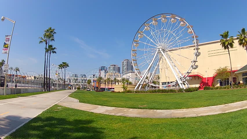 Long Beach Tourist Attractions Stock