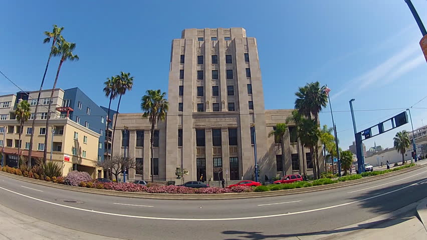 The Federal Building in Long Beach, CA with the United States Post Office on the