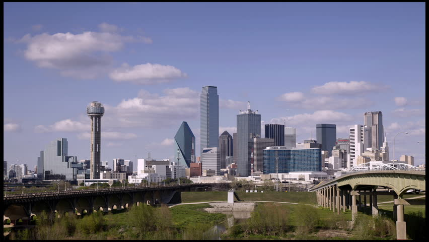 DALLAS-MARCH 31: Time-lapse of Downtown Dallas. Dallas is the ninth most populous city in the United States. The third most populous city in Texas on March 31, 2013 in Dallas, Texas