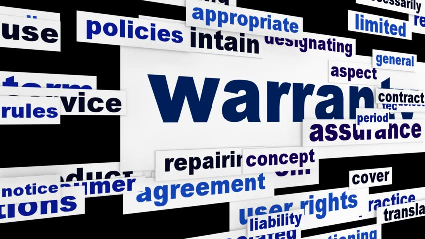 Warranty consumer service message. Product quality guarantee animation
