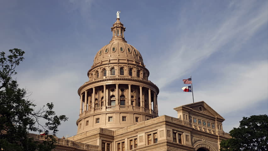 AUSTIN, TEXAS-APRIL 15: A Time Lapse of Texas State Capital on April 15, 2013 in Austin, Texas. Texas State Capital was constructed from 1882 to 1888. It opened to the public on April 21, 1888.