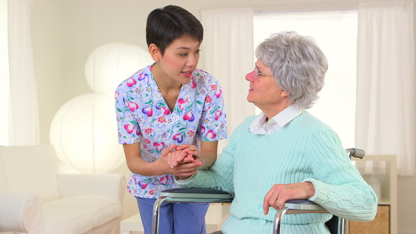 Japanese Nurse Talking With Patient Stock Footage Video -5920