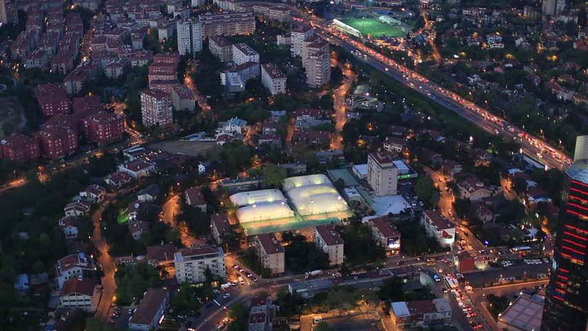 Aerial view at Istanbul city Turkey | Shutterstock HD Video #3793370