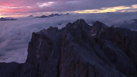 Aerial over the Alps/Italy
