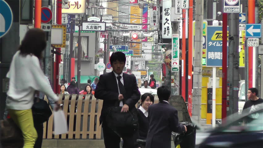 OSAKA JAPAN - APRIL 22 : Osaka Namba District Japan in 2013 Osaka is located in the Kansai region of Honshu Island.Osaka is the 3rd largest city in Japan after Tokyo and Yokohama.