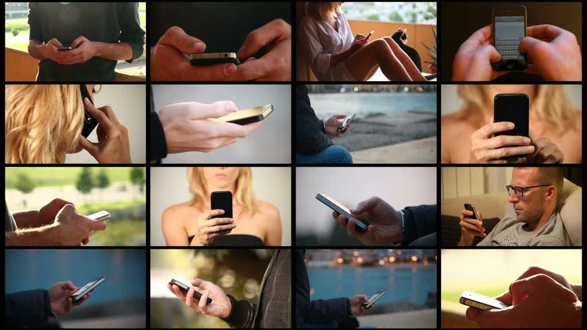 Using the smartphone - composition | Shutterstock HD Video #3863900