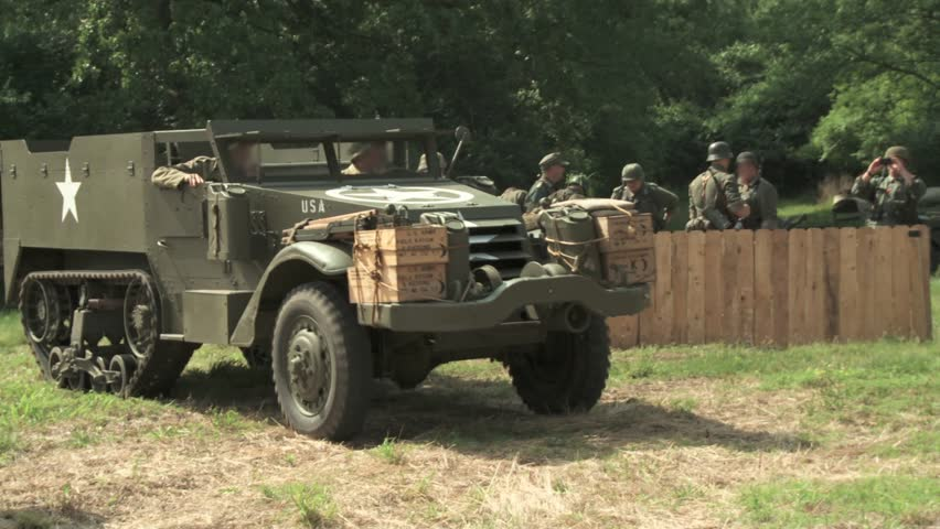 An American Half Track Vehicle Stock Footage Video (100% Royalty-free)  3883310   Shutterstock