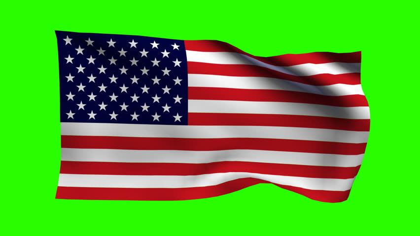 Keyable Flag of USA   Shutterstock HD Video #3888920